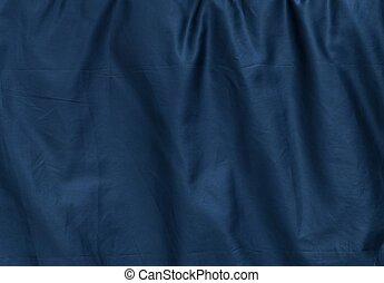 Background Pattern of Crumpled Blue Textile Texture