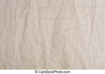 Background Pattern of Crumpled Brown Textile Texture