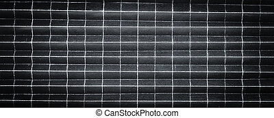 Background pattern of folded black paper in 256 parts