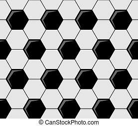 Background pattern of soccer ball pentagons - Background...