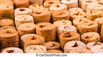 Background pattern of wine bottles corks.