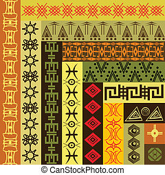 Background pattern with African mot