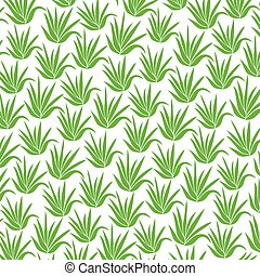 background pattern with aloe plant icons