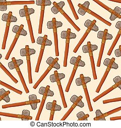 background pattern with ancient stone axes