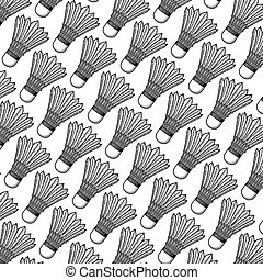 background pattern with badminton shuttlecock