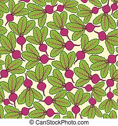 background pattern with beets