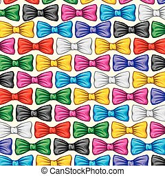 background pattern with bow ties