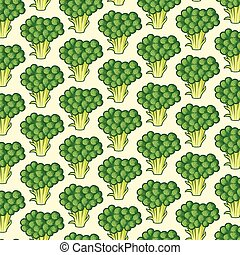 background pattern with broccoli
