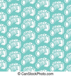 background pattern with camera