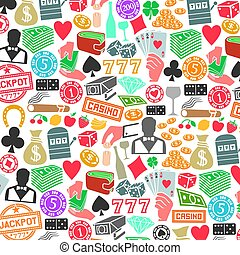 background pattern with casino or gambling icons