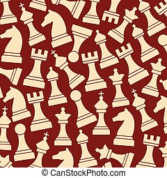 background pattern with chess pieces including king, queen,...