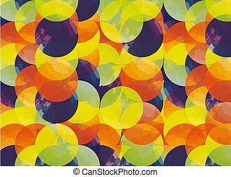 Background pattern with colorful circles