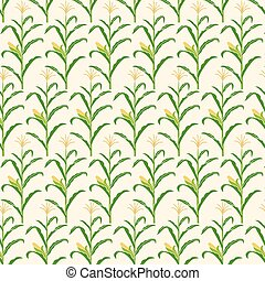 background pattern with corn stalk vector illustration