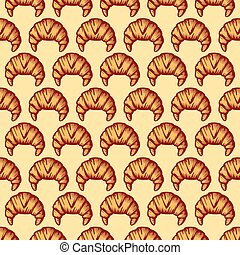 background pattern with croissant
