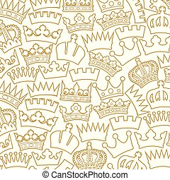 background pattern with crowns