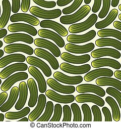 background pattern with cucumbers
