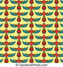 background pattern with flying parrot
