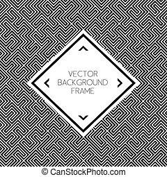 Background pattern with frame illustration