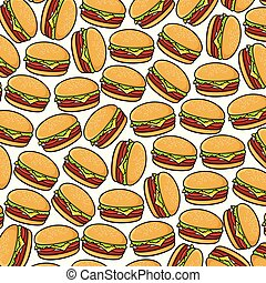 background pattern with hamburgers