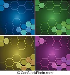 Background pattern with hexagon shapes