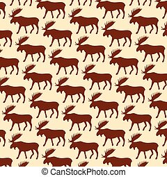 background pattern with moose