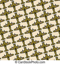 background pattern with old planes