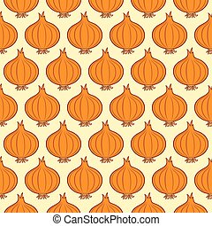 background pattern with onions