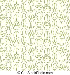 background pattern with paw prints icons
