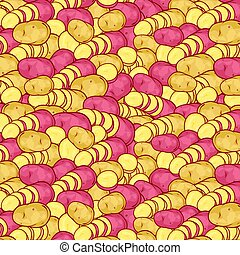 background pattern with potatoes