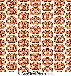 background pattern with pretzel