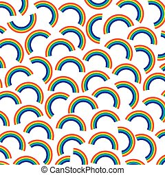 background pattern with rainbows