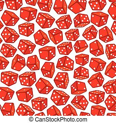 background pattern with red dices