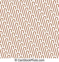 background pattern with shepherd crook (hook)