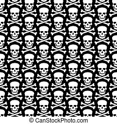 background pattern with  skull and crossed bones