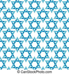 Background pattern with Star of David - Symbol of Israel
