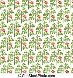 background pattern with tomato plant