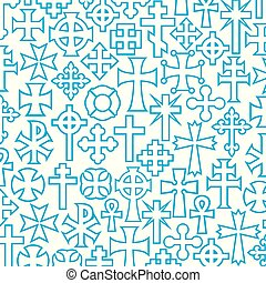 background pattern with vector crosses