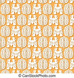 background pattern with walnut