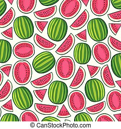 background pattern with watermelons
