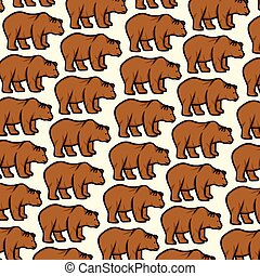background pattern with wild bear