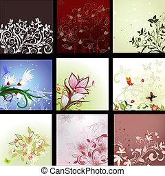background patterned set