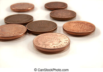 Background pennies.