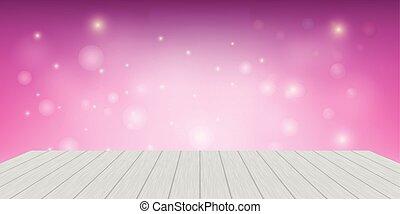Background Pink Light Shelf Wood Vector