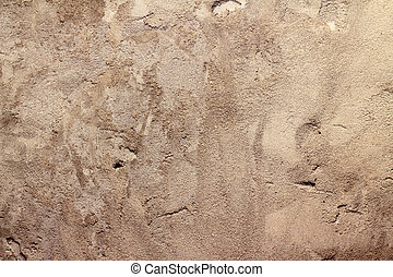 Wall with a rough cement plaster