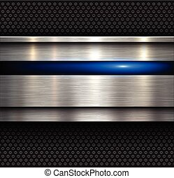 Background, polished metal texture with holes pattern...