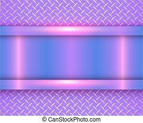 Background purple metallic, vector diamond plate
