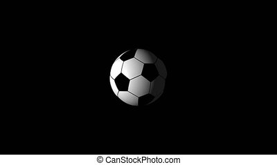 background), résolution, football, réaliste, usage, alpha, faire boucle, ball., channel., (transparent, rotation, inclure, ton, animation, 4k, video., 3d, facile