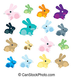 background rabbit illustration