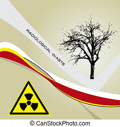 Background radiation waste