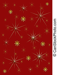 Background red and gold stars